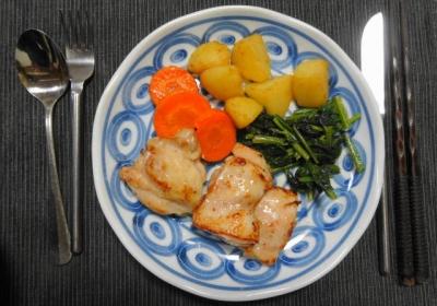 鶏モモ肉の塩麹漬けソテー 三種の野菜添え