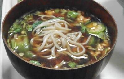 敦盛納豆蕎麦 食べ方