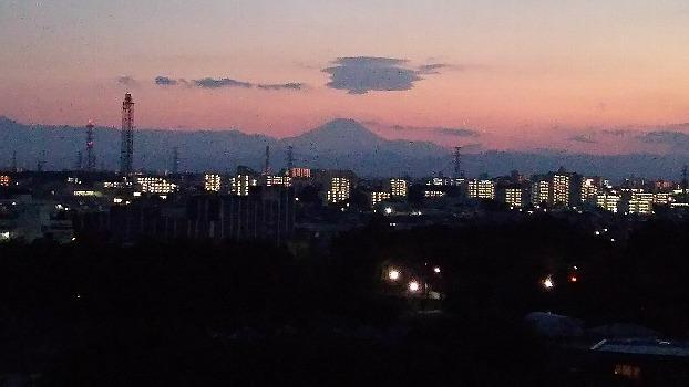 久々の夕焼け富士