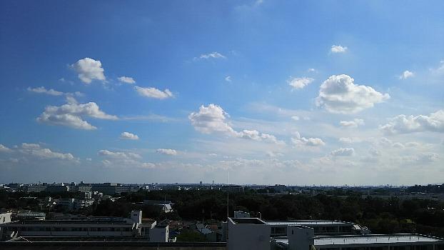 久々の秋の青空