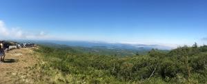 Cadillc Mountain中腹からの景色