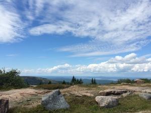 晴天の日のCadillc Mountainからの眺め1