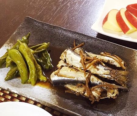 常備菜おうちごはん いわしの生姜煮としし唐炒め