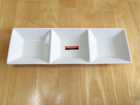 ダイソー白3カット小鉢