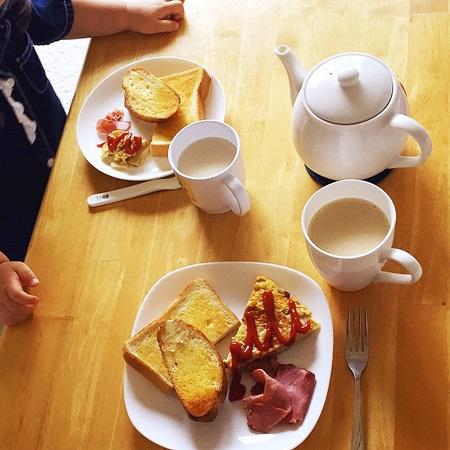 常備菜の朝ごはん