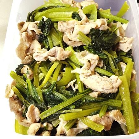 常備菜 小松菜と豚肉