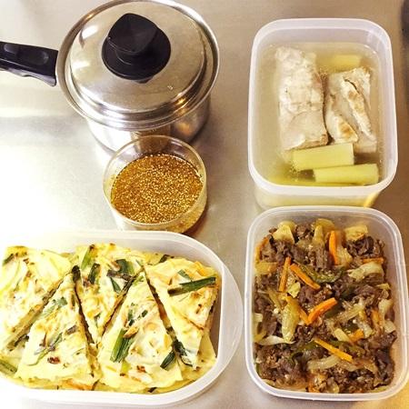 常備菜 プルコギ、ゆで豚、野菜ちぢみ