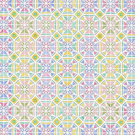 ぬり絵 【イスラム文様とモザイク】