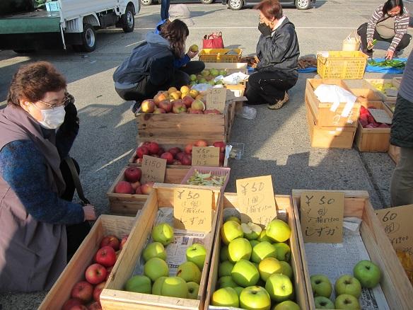 八戸朝市2015りんご