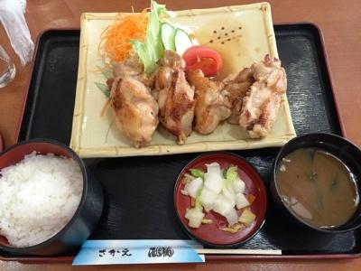 150811レストランさかえ若鶏バター焼き定食1000円