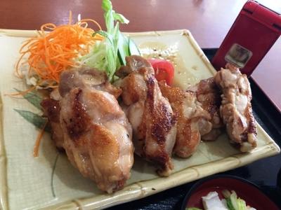 150811レストランさかえ若鶏バター焼き定食1000円大粒若鶏6個