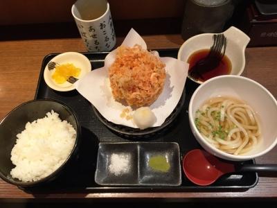 150818天ぷら食堂天八サンロード店桜海老のかき揚げ定食910円