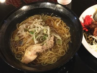150821鴻盛園らーめん定食650円煮干し醤油ラーメン