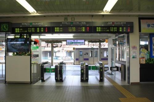 北上駅改札