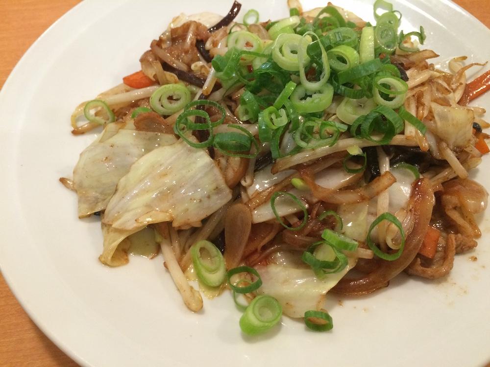 従業員限定野菜炒め定食0925