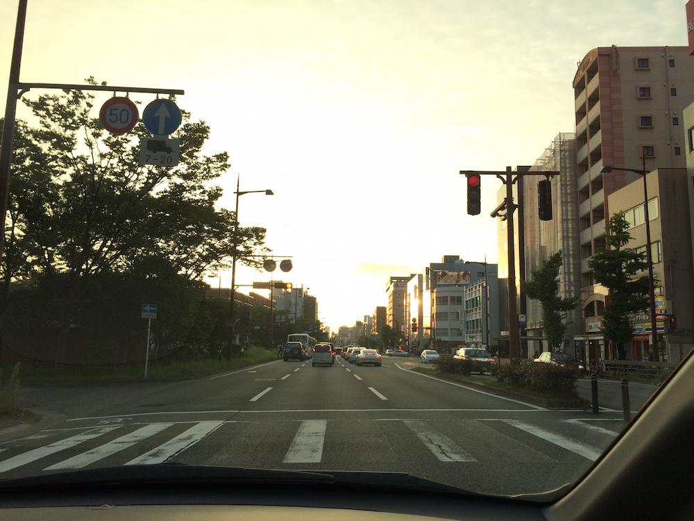 大濠公園付近の夕焼け