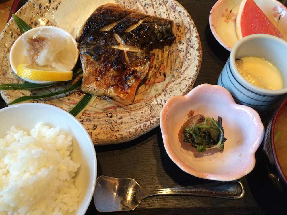 焼き鯖定食1021