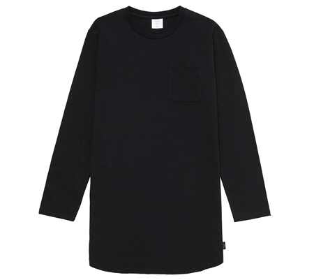 MG-TP03 LONG TEE BLACK_R