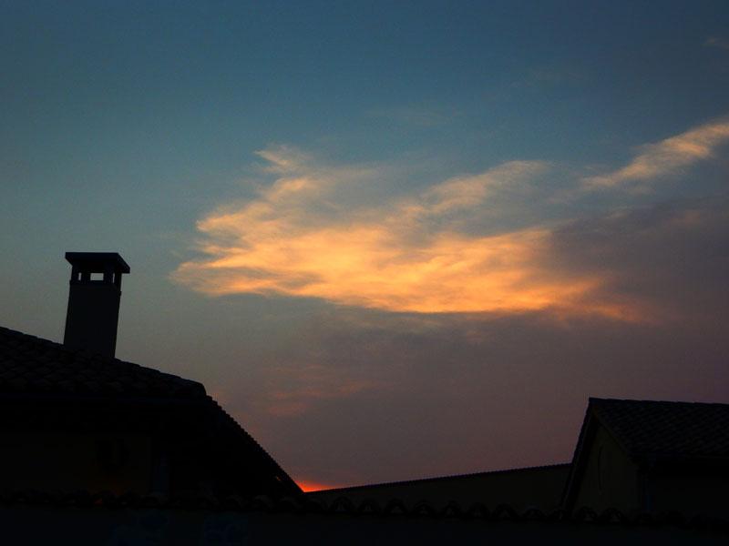 150802噴水と夕日@ソレイユの丘6