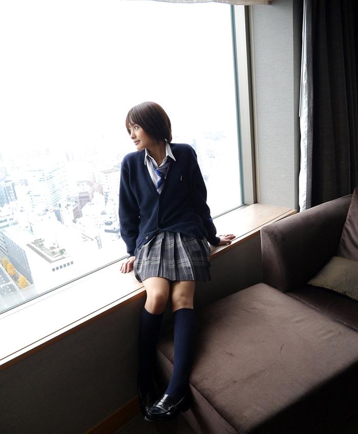 夏目優希 制服 セックス画像 6