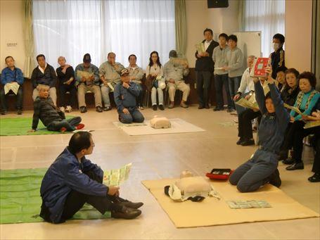 救急救命と除細動器 (AED)の講習会 ②