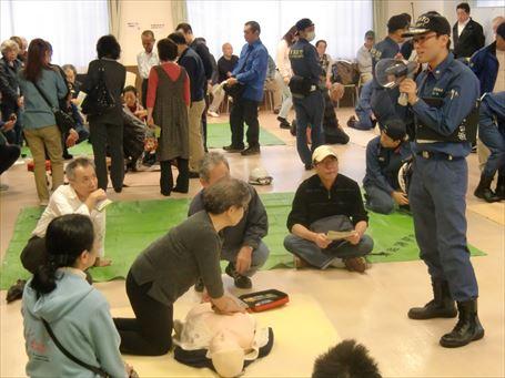 救急救命と除細動器 (AED)の講習会 ③