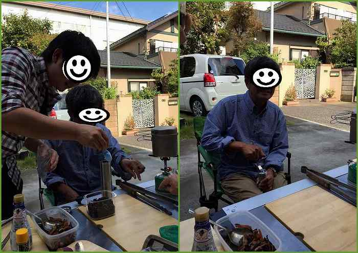 お庭BBQ1