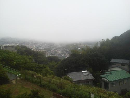 霧が出てますね。