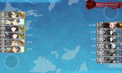 20150827艦これE-4攻略LD2回目3昼終了時