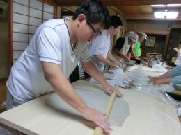 h27二八会蕎麦打ち練習