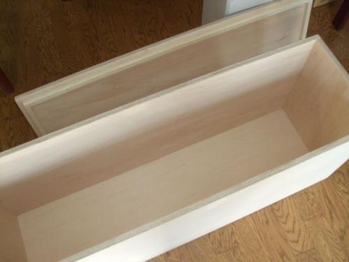 シナ合板の収納箱
