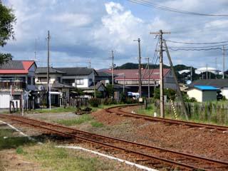 福島臨海鉄道の本線と専用線の分岐地点