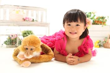 2歳バースデーフォト群馬伊勢崎まあやちゃんドレス