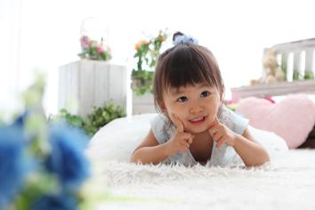 2歳バースデーフォト群馬伊勢崎まやちゃん