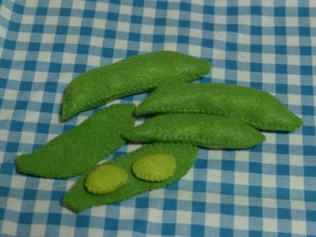 フェルト手芸・野菜+フルーツ 枝豆