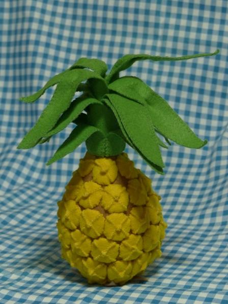 フェルト手芸・野菜+フルーツ パイナップル 1