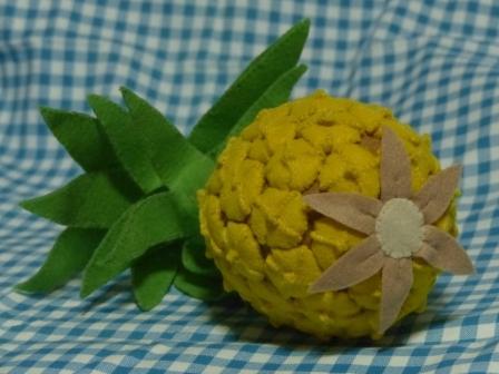 フェルト手芸・野菜+フルーツ パイナップル 2
