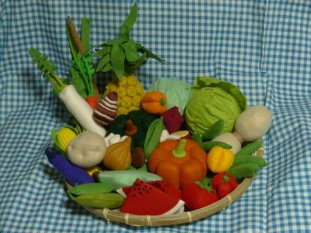 フェルト手芸・野菜+フルーツ 全体 1