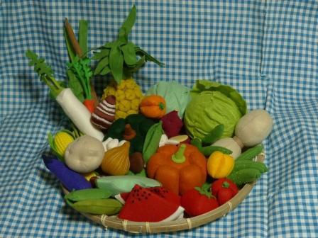 フェルト手芸・野菜+フルーツ 全体 2