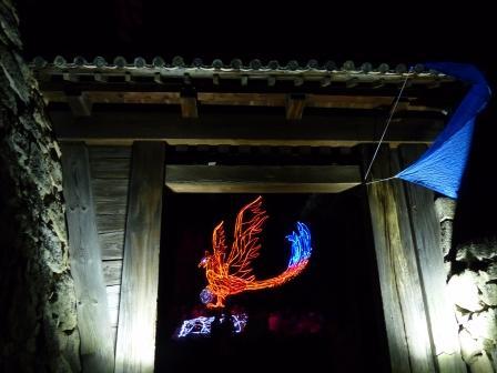 光のおもてなし in 松山城 4