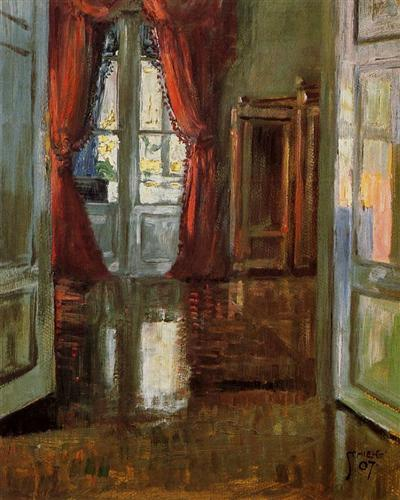 View into the Apartment of Leopold and Marie Czihaczek - Egon Schiele, 1907