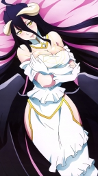 i_326821 albedo_(overlord) breast_hold cleavage habu_ryousuke horns overlord