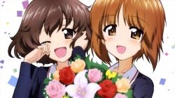 o_a 331552 akiyama_yukari girls_und_panzer nishizumi_miho seifuku sugimoto_isao