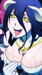 i_322190 albedo_(overlord) cleavage dress gothic_lolita horns lolita_fashion momonga_(overlord) overlord shalltear_bloodfallen wings yoshimatsu_takahiro
