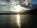 夕日と海とSUP