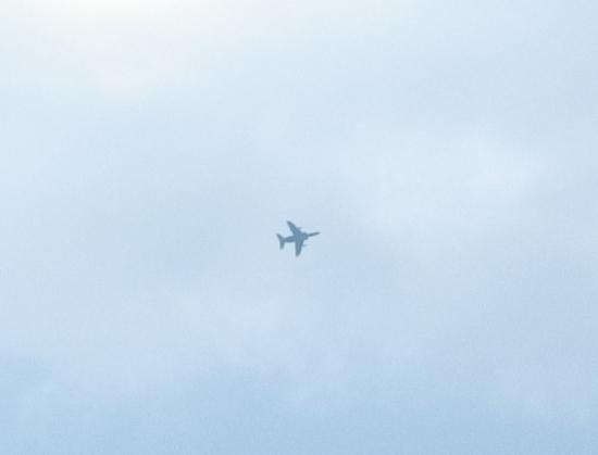 波照間の上空にT-4