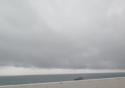 雨の遠州灘