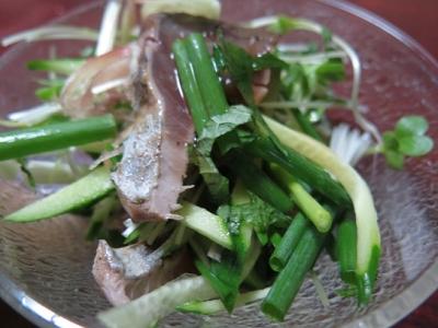 カツオたたきの薬味サラダ