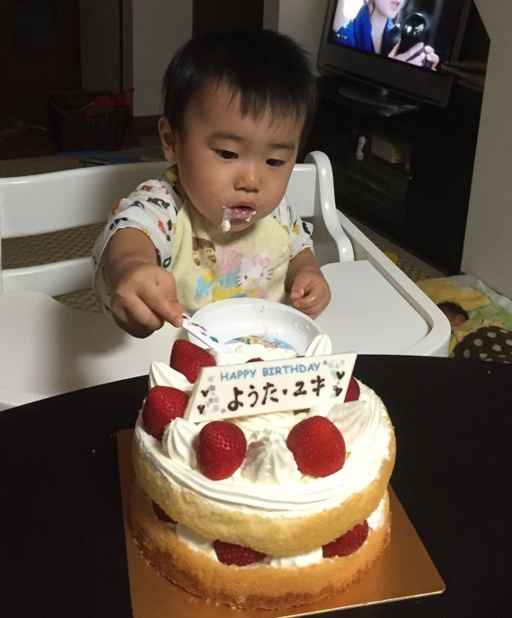 ようた2歳ケーキ2