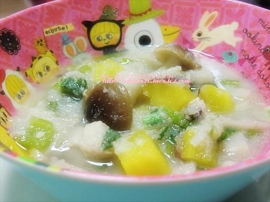 さつまいもと小松菜のおから汁♪